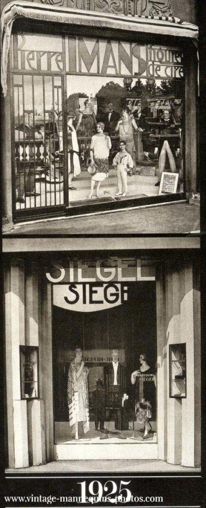 Schaufenster von Pierre Imans und Siégel Paris