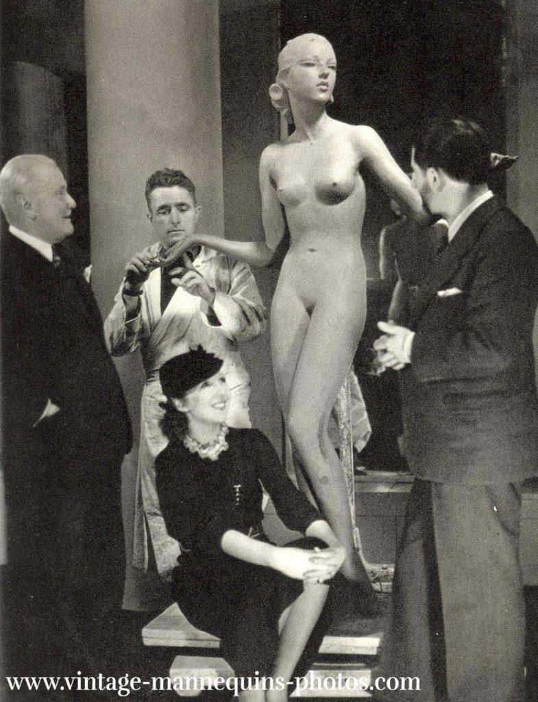 Links Siégel, der Skulpteur Lerivérend und sein Stylist Jean-Gabriel Domergue