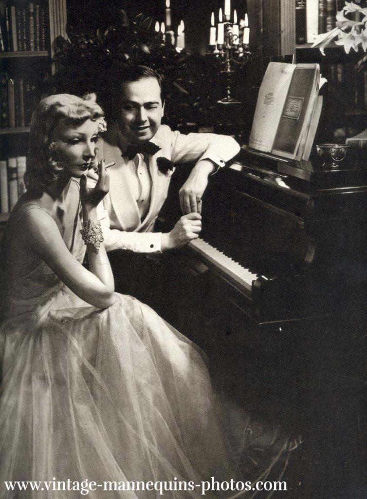 Cynthia und Lester Gaba in ihrem New Yorker Apartment 1938