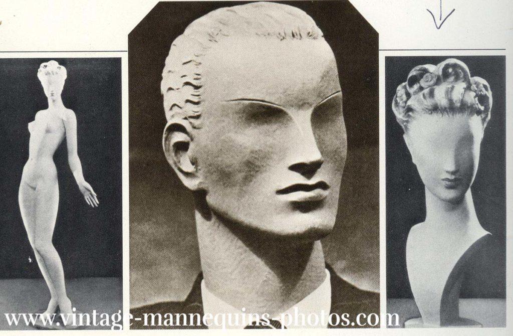 Robert Couturier, ein Scupteur aus Paris schuf seine gesichtslosen Schöpfungen in den 40er Jahren (Nr.83)